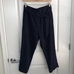 Navy Paper Bag Pants